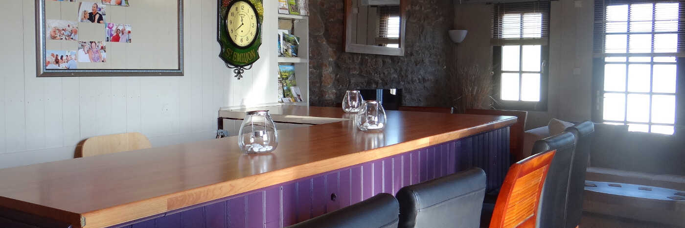 photo of the inside of the Kingfisher bar at Parc Mayenne